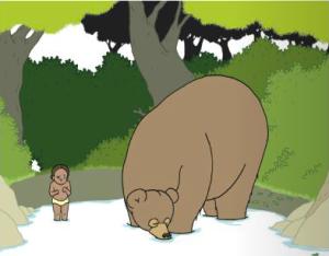 Elsa und der Bär