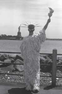 """(c) Jay Critchley """"Miss Tampon Liberty"""" (ca. 1985)"""